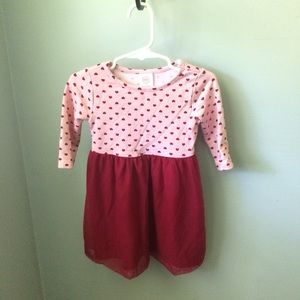 4/$25 Wondernation Pink Heart Dress Size 2T